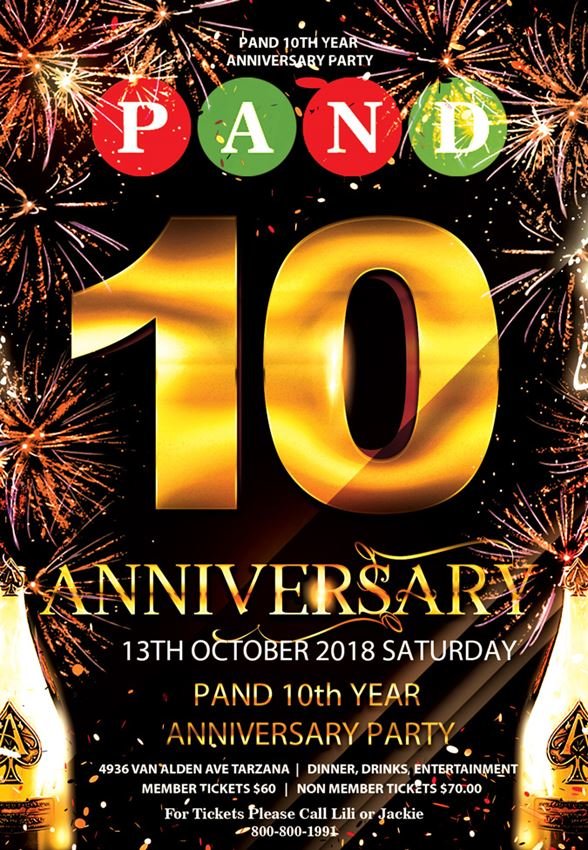 PAND 10th Year Anniversary PARTY
